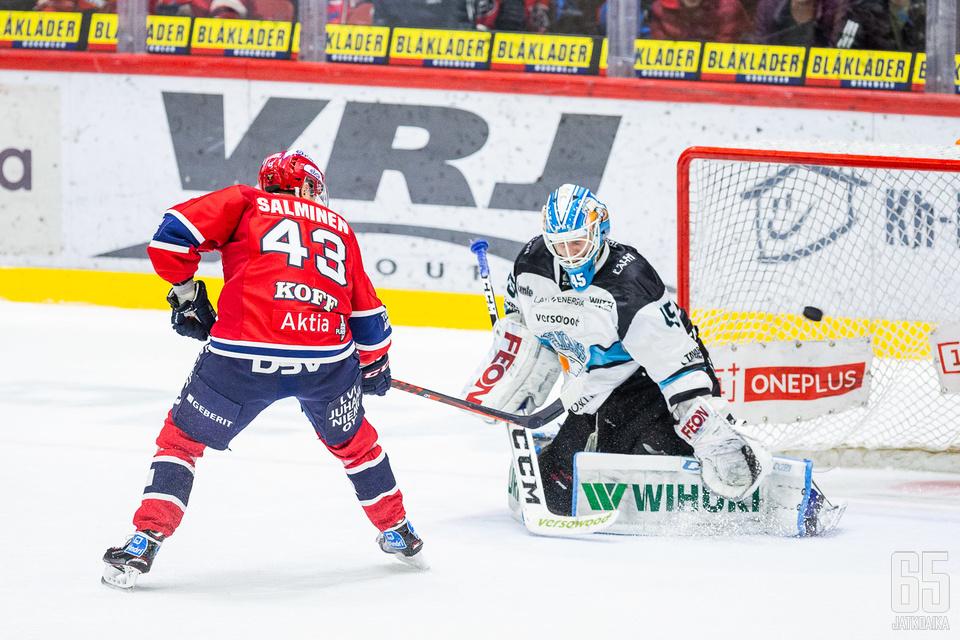 Salminen ohjasi Juho Olkinuoran edestä voittomaalin.