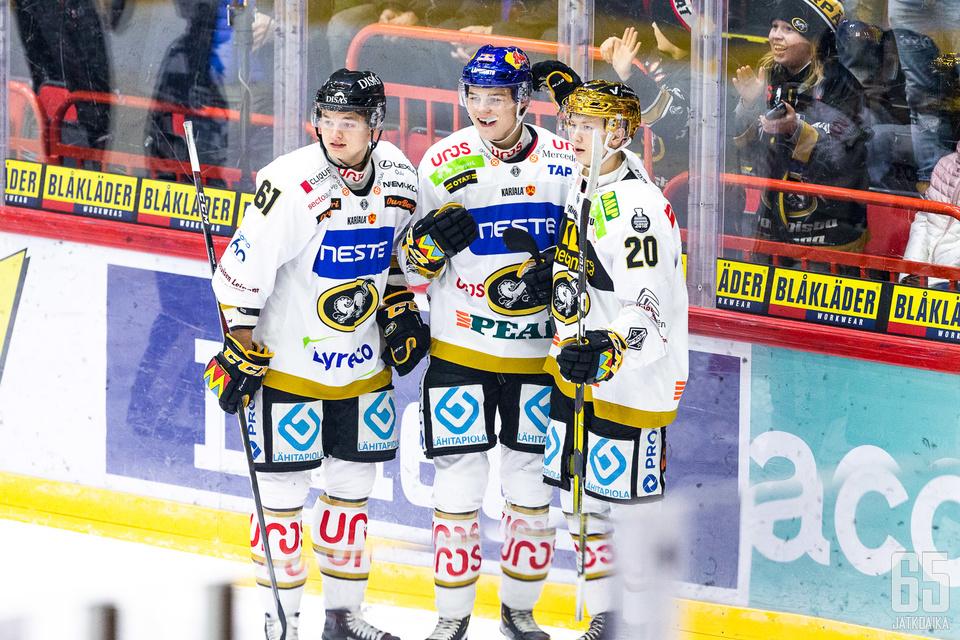 Teemu Kivihalme, Rasmus Kupari ja Aleksi Heponiemi olivat tänään tehokkaita.