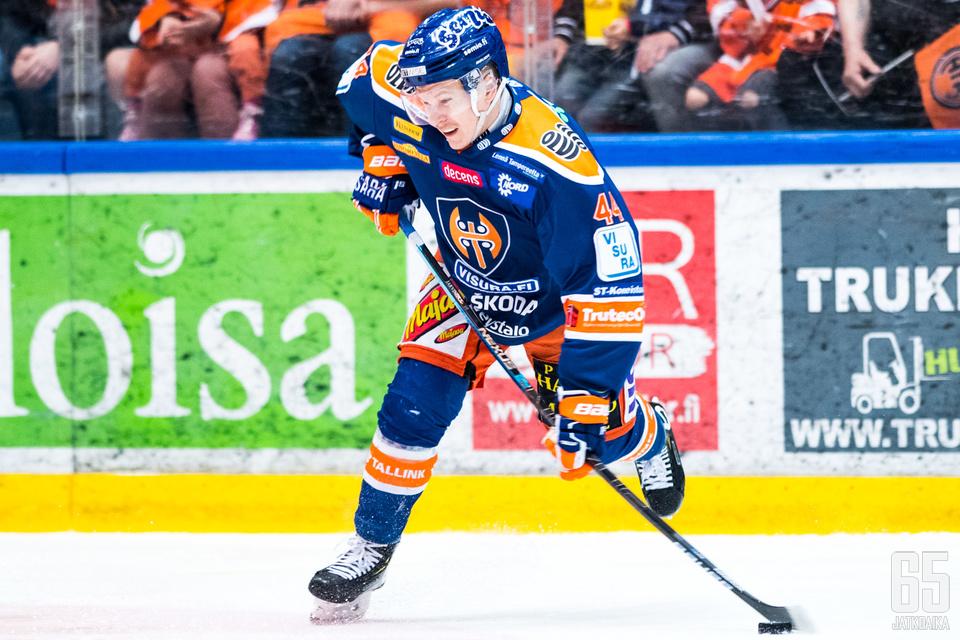 Jan-Mikael Järvinen ehti pelata Tapparassa kahdeksan kautta putkeen.