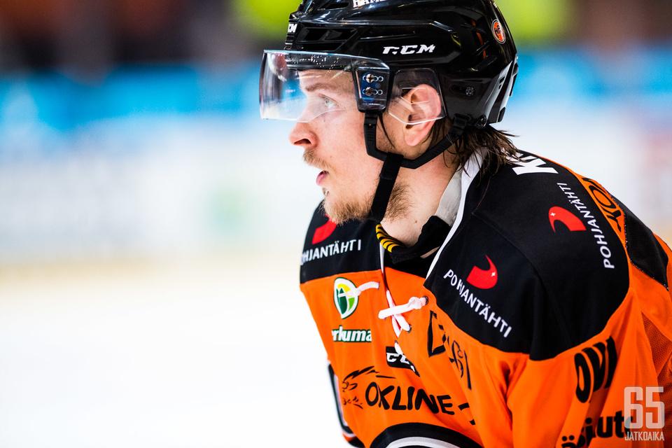 Janne Tavi oli Liigan viime kevään pudotuspelien maalipörssin toinen.