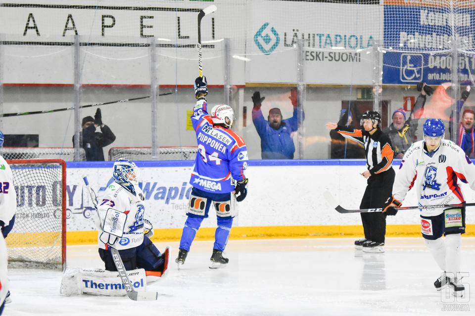 Joni Piipponen iski ottelun voittomaalin.