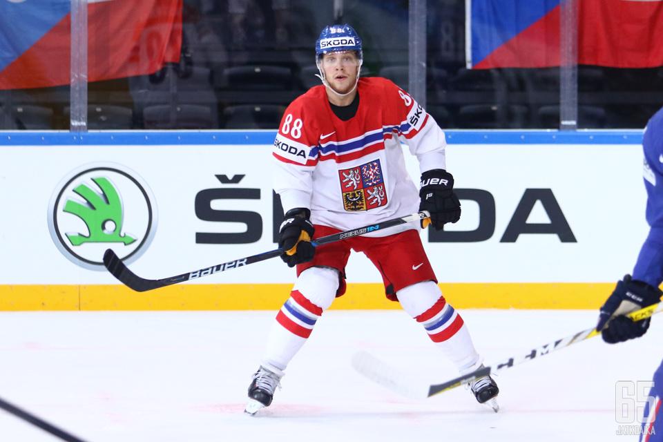 David Pastrnak saapui MM-kisojen neljänteen otteluun.