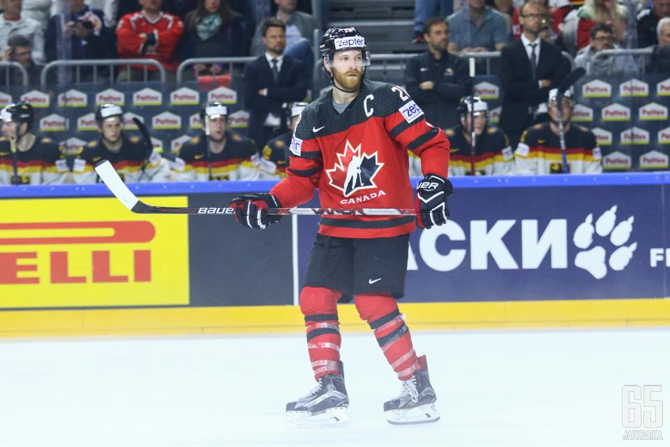 Kanada-kapteeni ei saalistanut pisteitä Saksa-ottelussa.