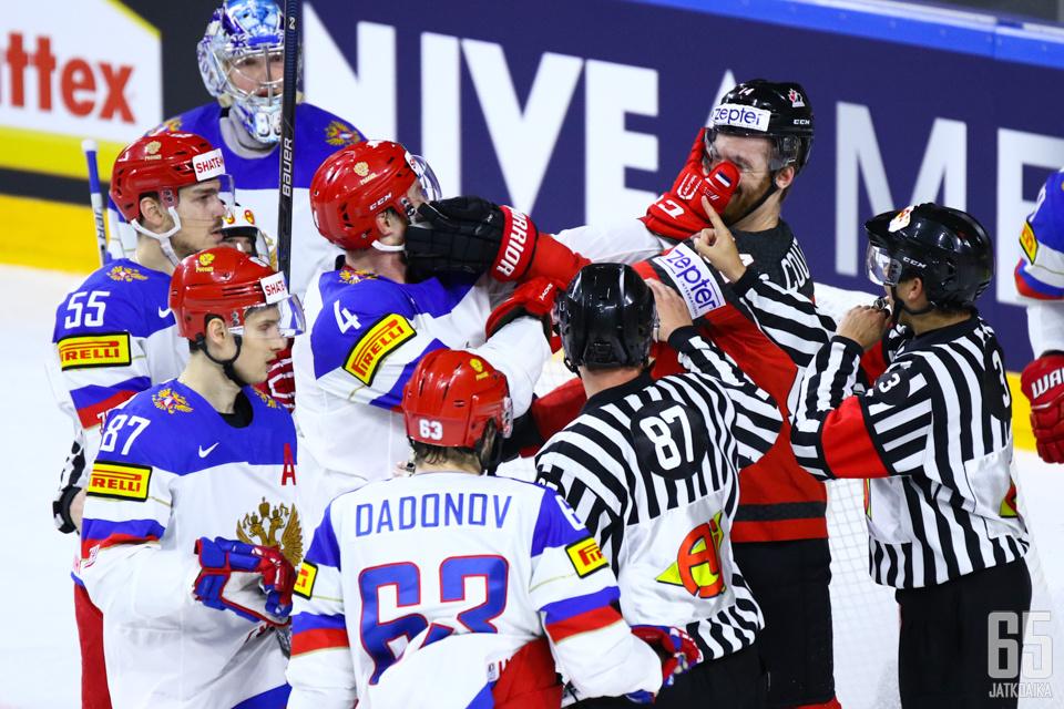 Kanadan ja Venäjän ottelua voi pitää mielenkiintoisimpana puolivälieränä.