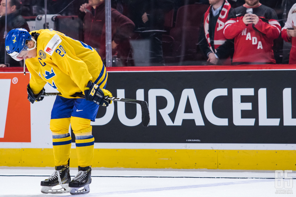 Joel Eriksson Ek oli pettymykseen päättyneessä MM-turnauksessa Ruotsin toiseksi tehokkain pistemies tehoin 6+3.