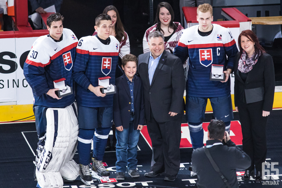 Slovakian joukkueessa esille nousivat puolustuspään pelaajat.