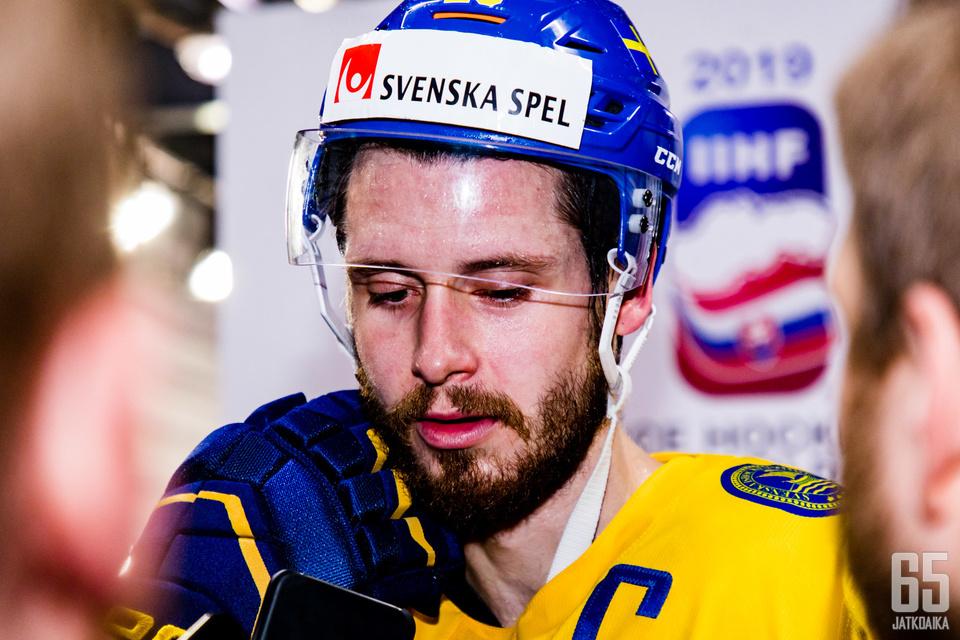 Tre Kronor -kapteeni Oliver Ekman-Larsson kehui Leijonia.