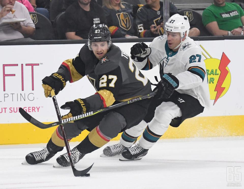 Joonas Donskoi on noussut Sharksin tärkeimpien pelaajien joukkoon.