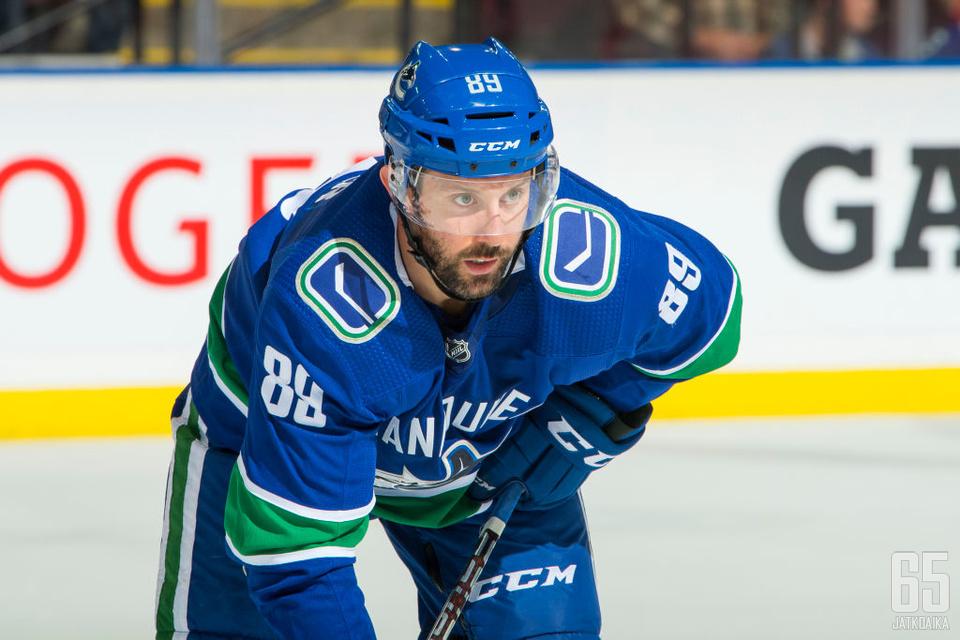 Gagner pelasi tällä kaudella vain seitsemän peliä Canucksin riveissä.
