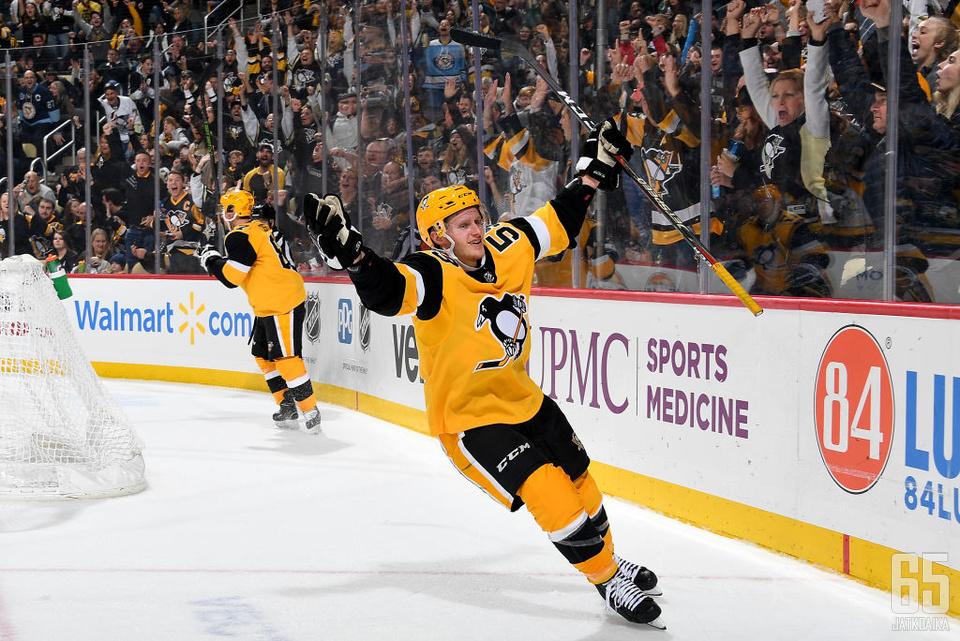 Jake Guentzelissä tiivistyy Penguinsin voittamisen kulttuuri.