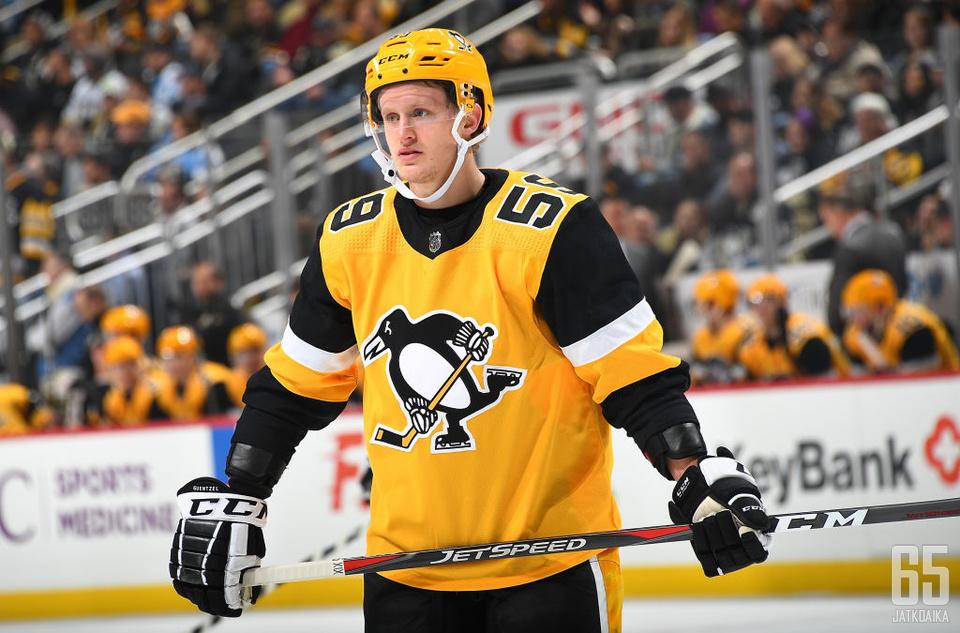 Guentzel kuuluu Penguinsin avainhyökkääjien joukkoon.