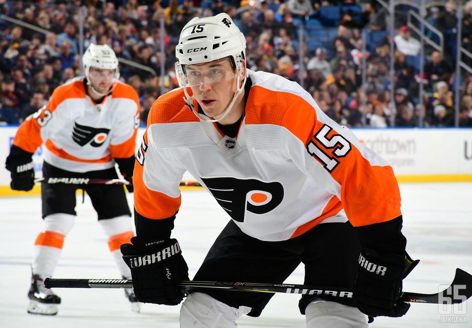 Lehterän viimeisin NHL-seura oli Philadelphia Flyers.