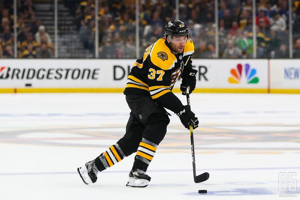 Patrice Bergeron johdatti Bruinsin pudotuspeleihin.