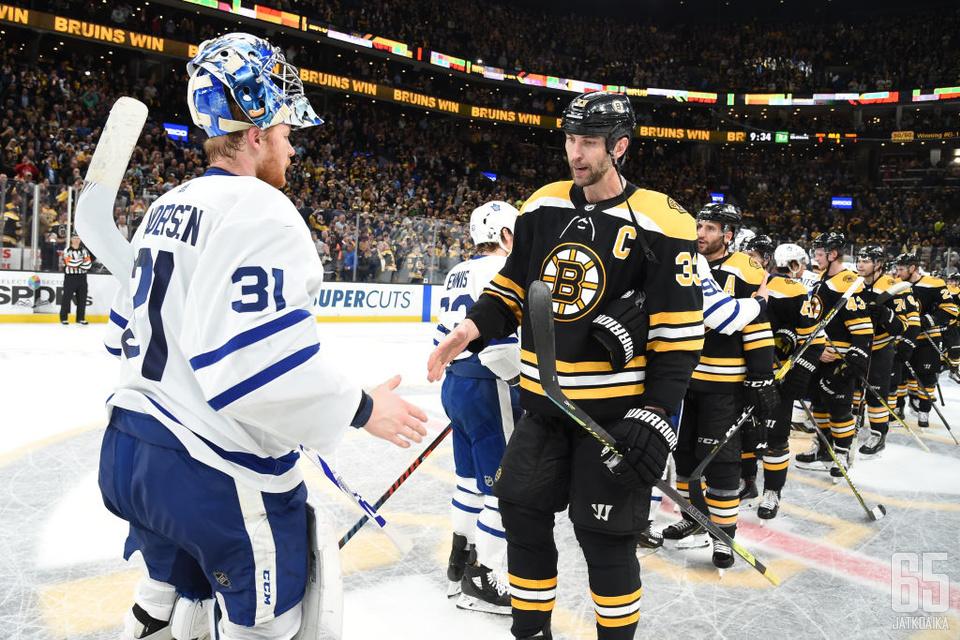 Boston Bruins päätti seitsemässä pudotuspeliottelussa Toronto Maple Leafsin ja Frederik Andersenin kauden.