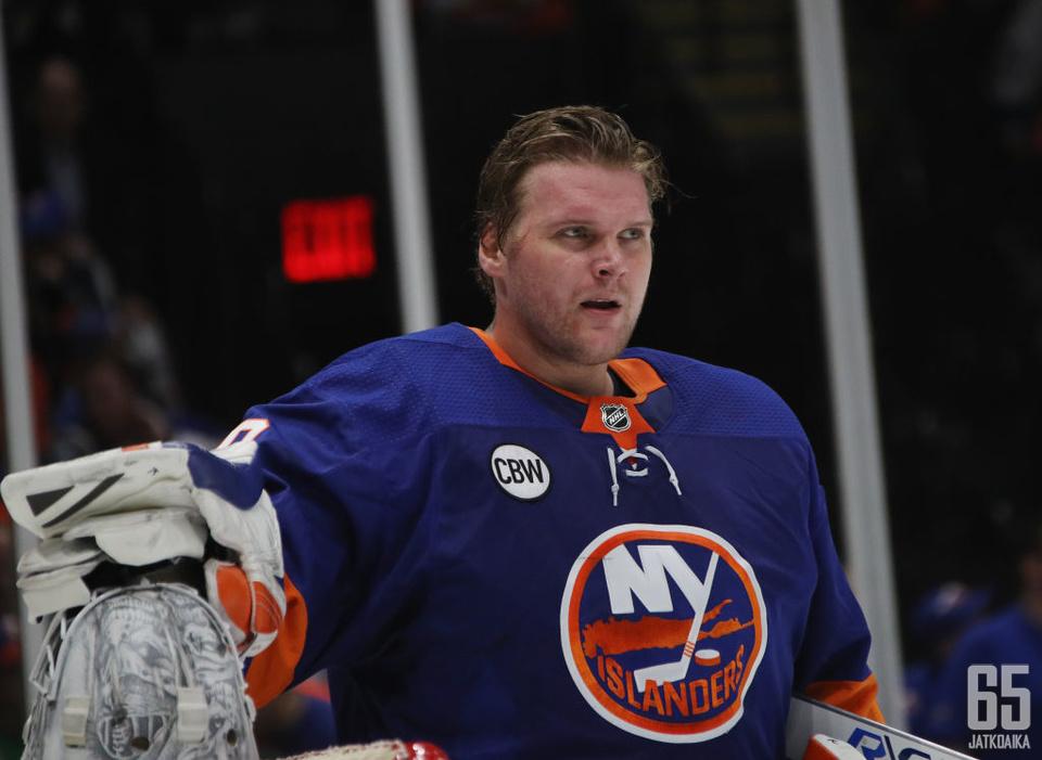 Robin Lehner pelasi viime kaudella New York Islandersissa erinomaisesti.