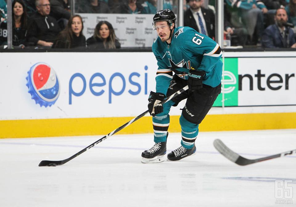 Braun on pelannut koko aiemman NHL-uransa San Jose Sharksissa.