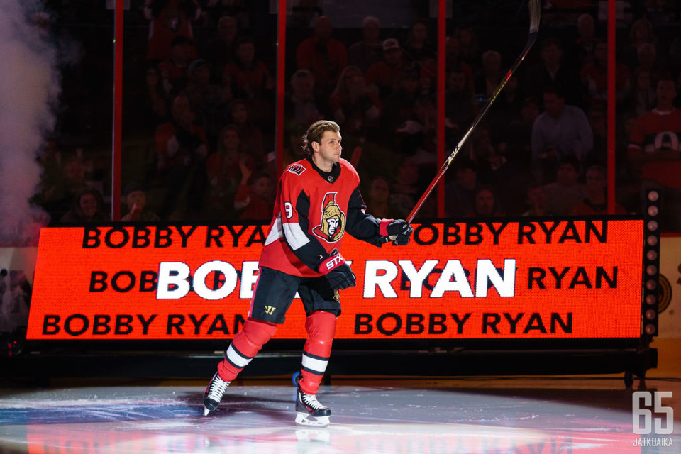 Bobby Ryan teki paluun kaukaloihin helmikuussa.