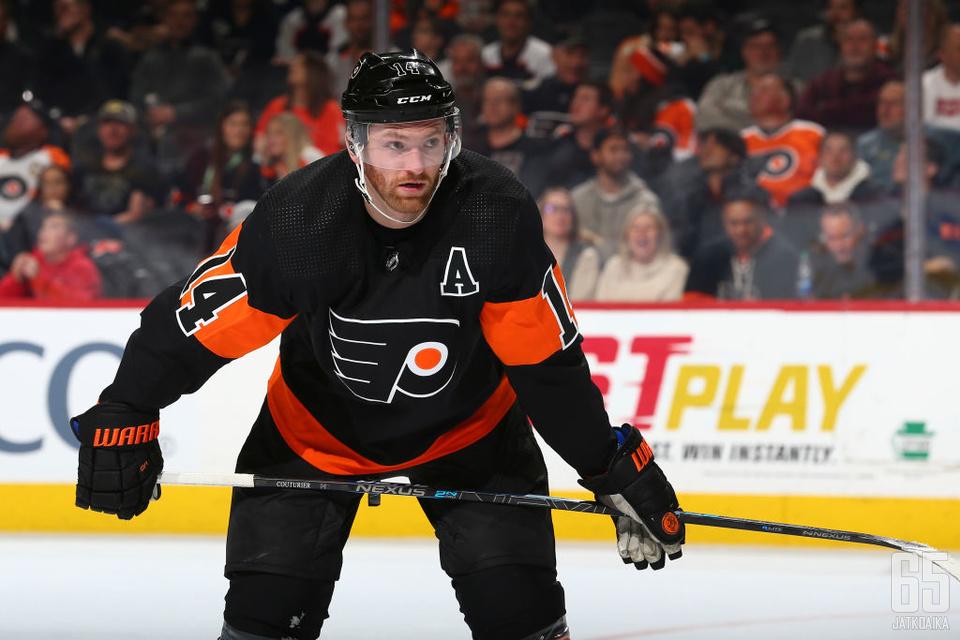 Sean Couturier on noussut pyyteettömällä työllä NHL:n eliittiin.