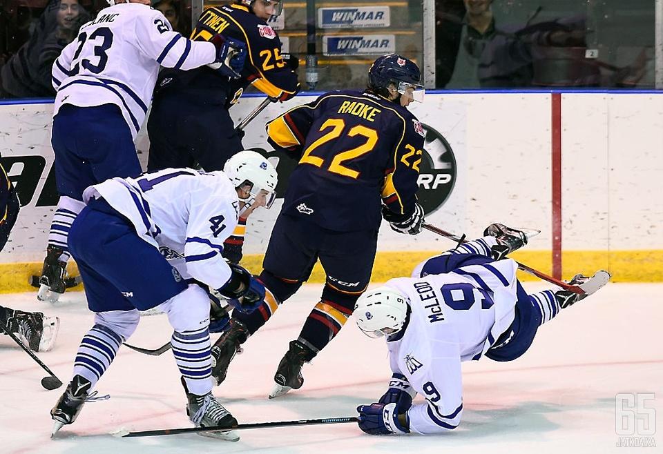 Radke on pelannut viime vuodet OHL:ssä.