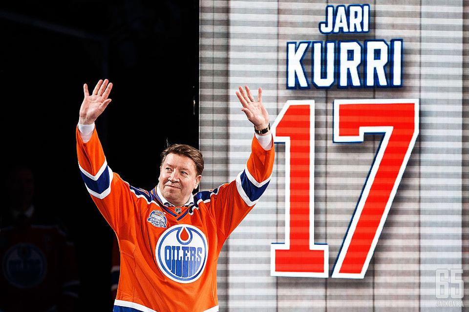 Edmonton Oilers on jäädyttänyt Jari Kurrin pelinumeron 17.