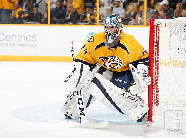 Saros torjui lokakuussa NHL-uransa avausvoiton.