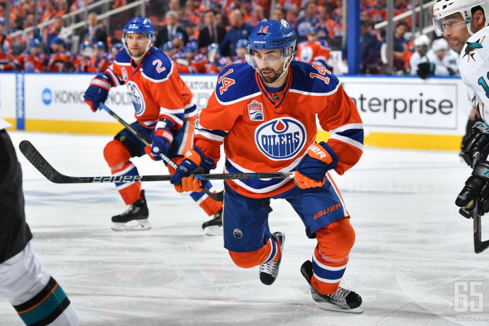Eberle on pelannut NHL-urallaan vain Edmontonissa.