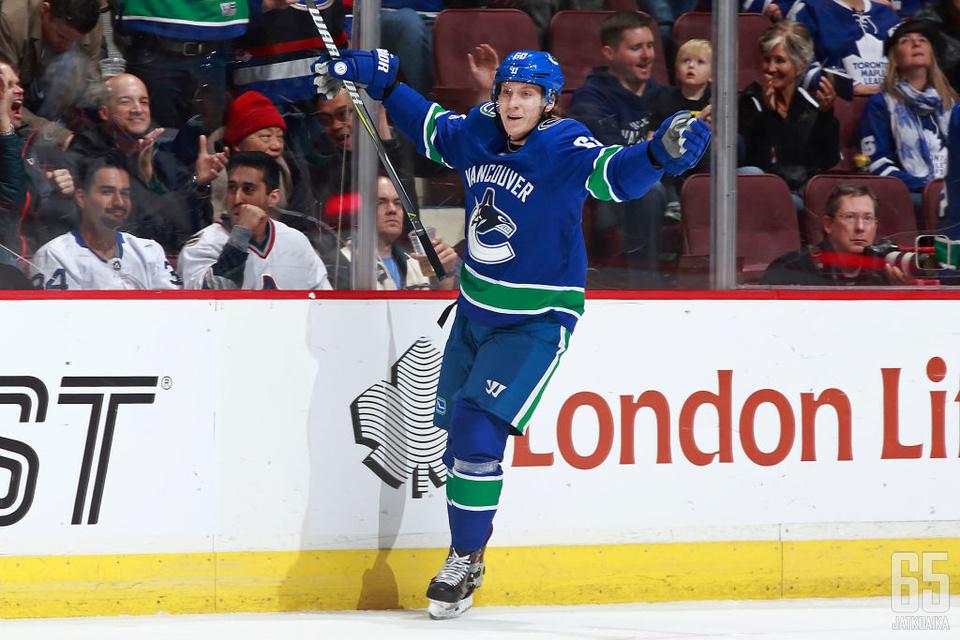 Markus Granlund jatkaa Vancouver Canucksin paidassa myös ensi kaudella.