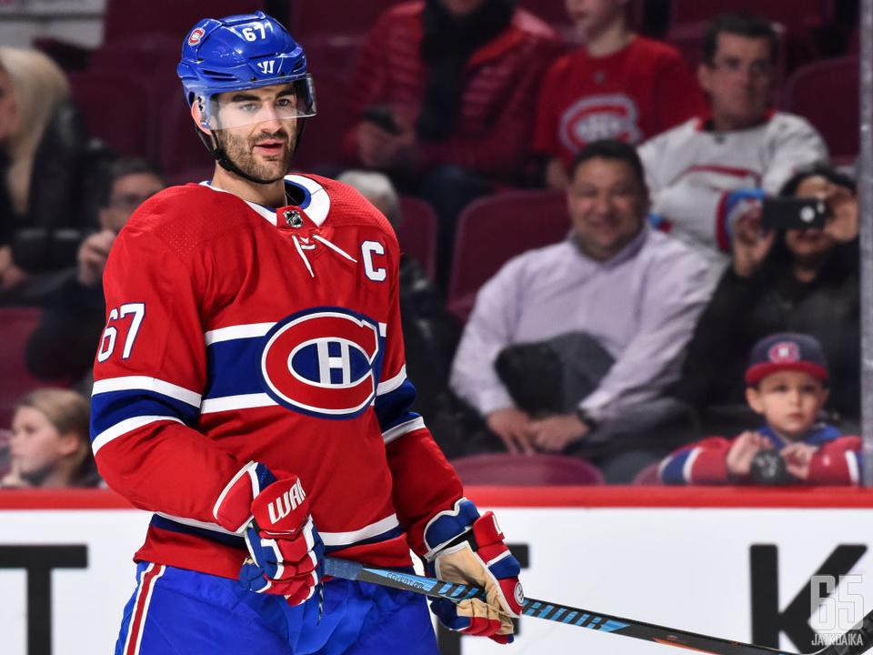 Max Pacioretty toimi Canadiensin kapteenina kaudesta 2015-2016 lähtien.