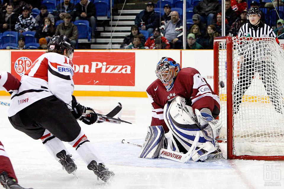 Kalnins Latvian maalilla nuorten MM-kisoissa 2010.