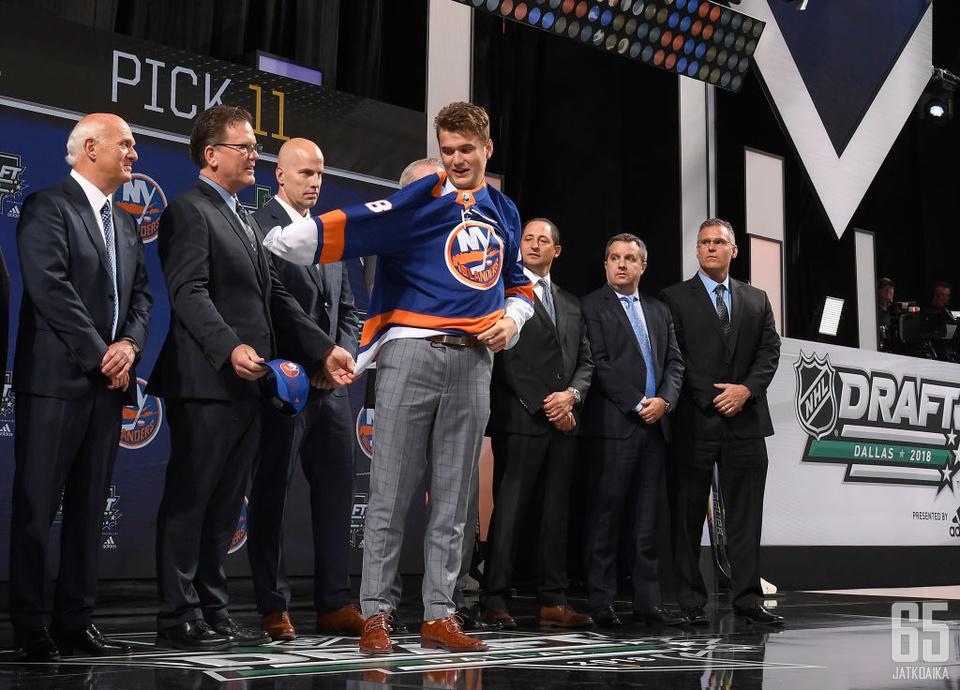 Oliver Wahlströmin valinnut New York Islanders oli NHL:n varaustilaisuuden suurimpia onnistujia.