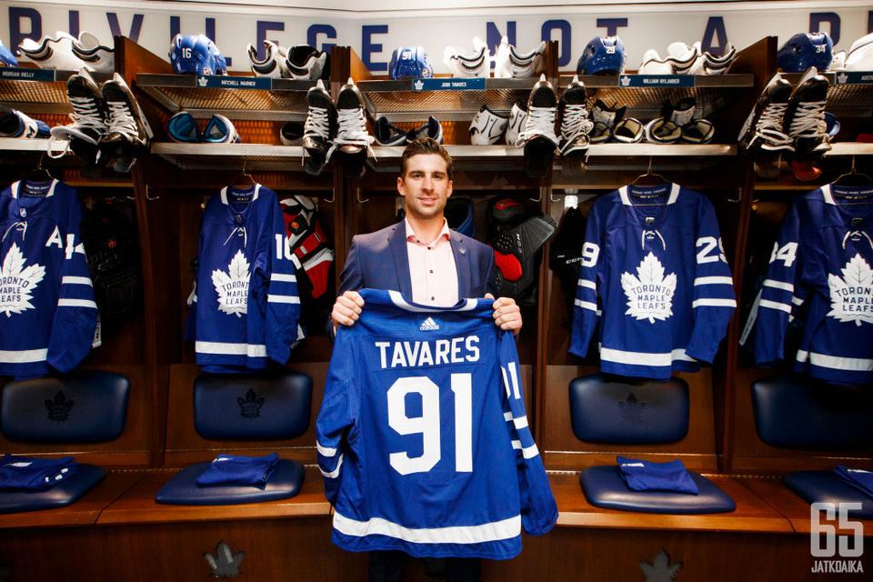 John Tavares kantaa harteillaan suurimman vastuun Stanley Cupin tuomisesta Torontoon.