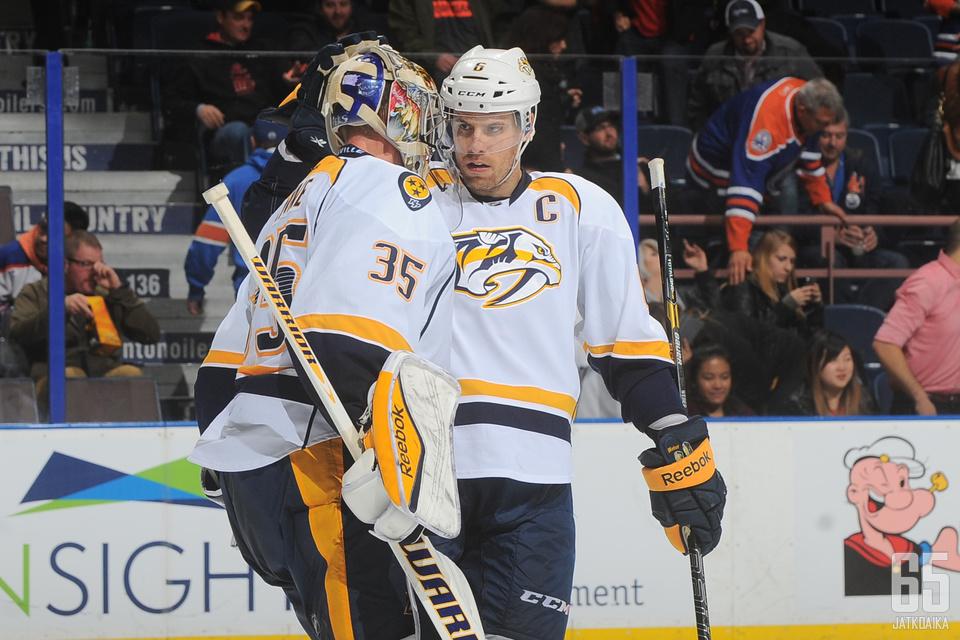 Pekka Rinne ja Shea Weber valittiin NHL:n tähdistöotteluun.