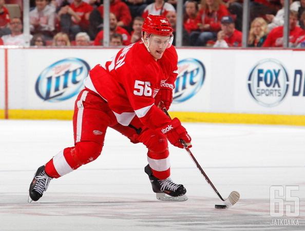 Teemu Pulkkinen on päässyt näyttämään taitojaan myös NHL:n puolella.
