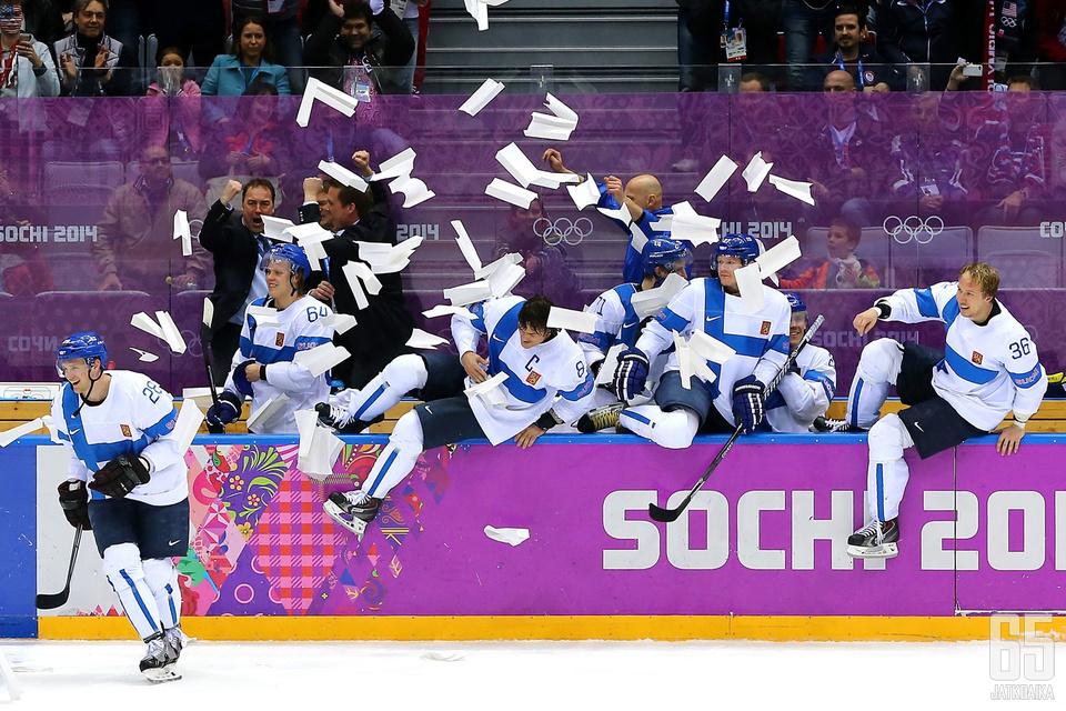2014 olympialaisissa Leijonien urakka päättyi voittoon.