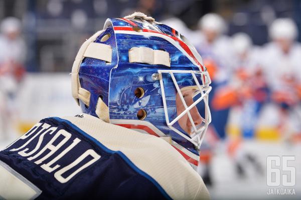 Korpisalo on edustanut NHL:ssä vain Blue Jacketsia.
