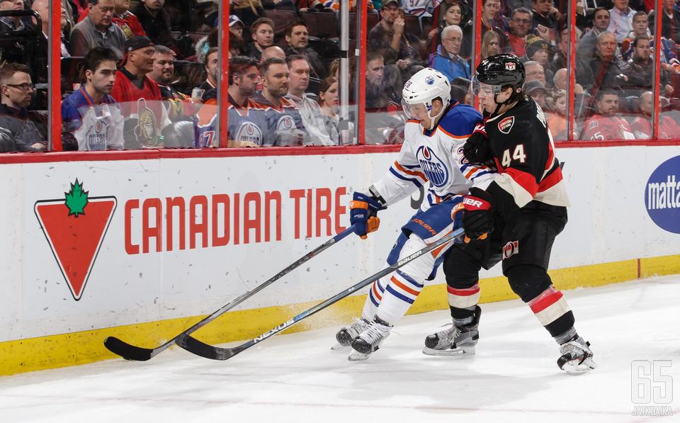 Lauri Korpikosen ura Oilersissa jäänee yhteen kauteen.