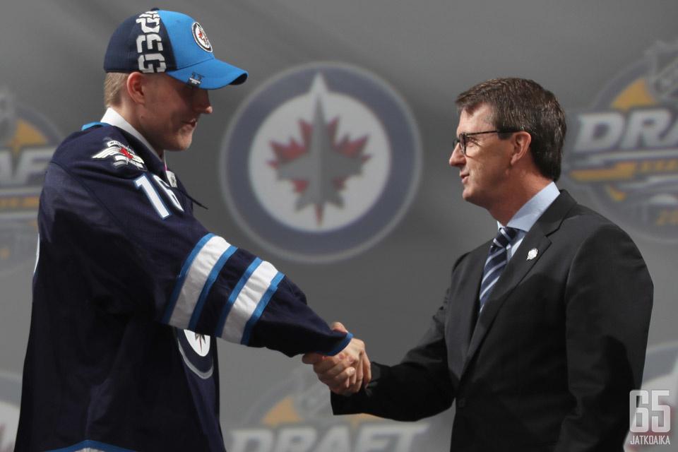 Patrik Laine on Winnipeg Jetsin mies.