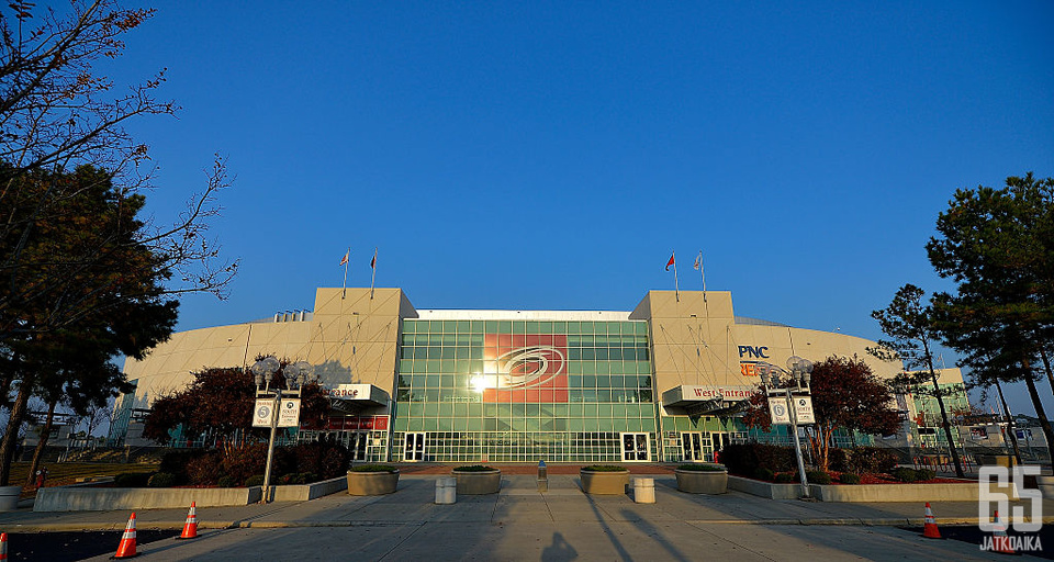 PNC Arena on Hurricanesin kotihalli.
