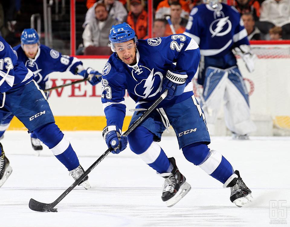J.T. Brown on pelannut koko NHL-uransa Tampa Bay Lightningissa.