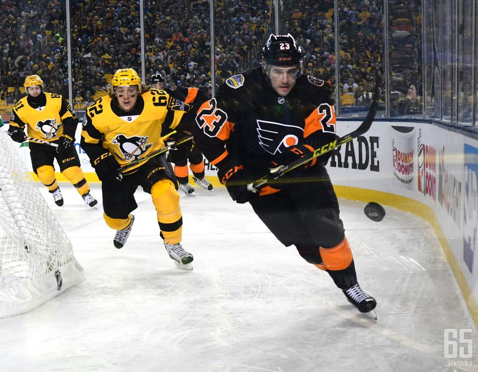 Penguins ja Flyers ulkoilmakamppailussa.