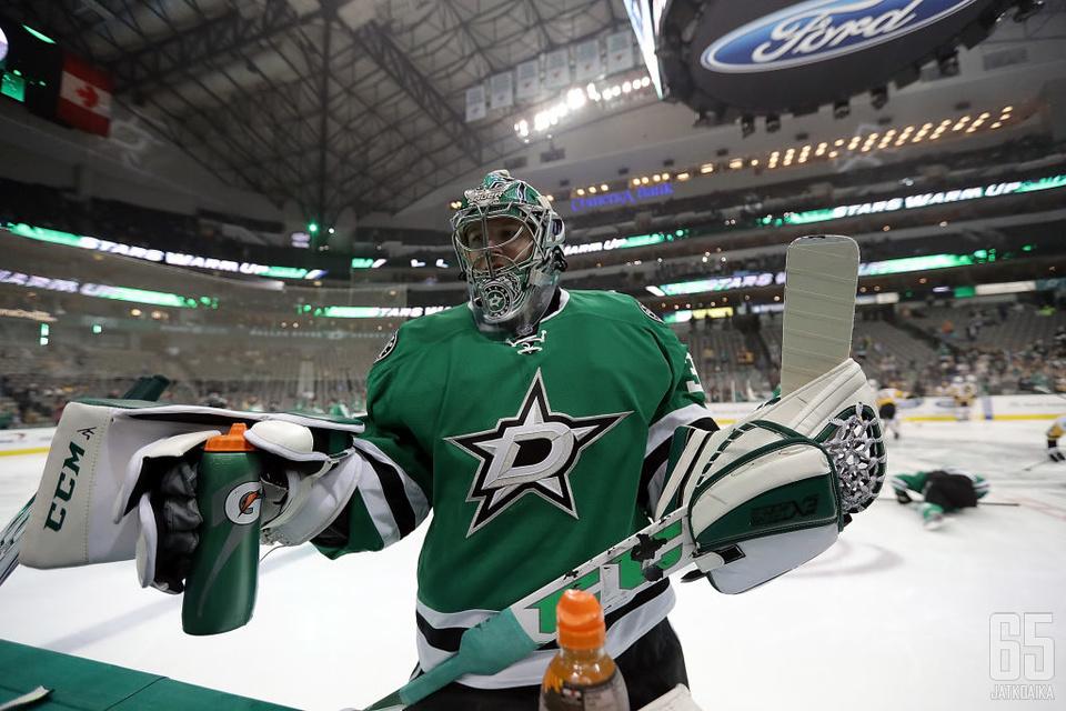 Kari Lehtonen torjui NHL-urallaan 310 voittoa.