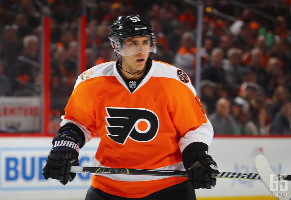 Valtteri Filppula on alkavalla kaudella Flyersin varakapteeni.