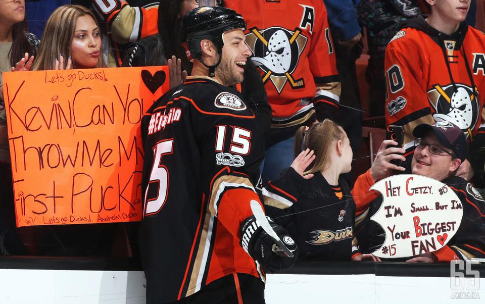 Ducks-kapteeni Getzlafilla on ollut maaliskuun aikana hymy herkässä.