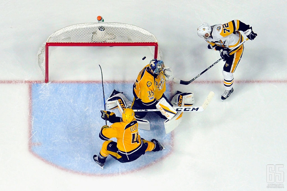 Patric Hörnqvistin Stanley Cupin ratkaissut osuma oli yksi lukuisista, jotka Penguins mätti kauden 2016-17 aikana.