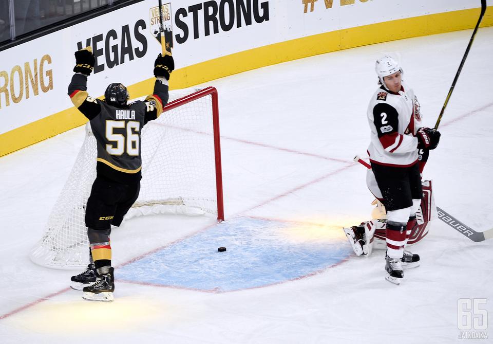 Haulan NHL-ura on lähtenyt uuteen nousuun Vegas Golden Knightsissa.