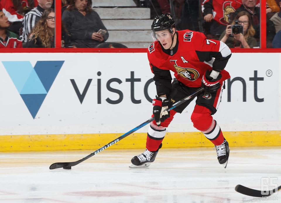 Kyle Turris ehti pelata Senatorsissa yli 400 runkosarjapeliä.