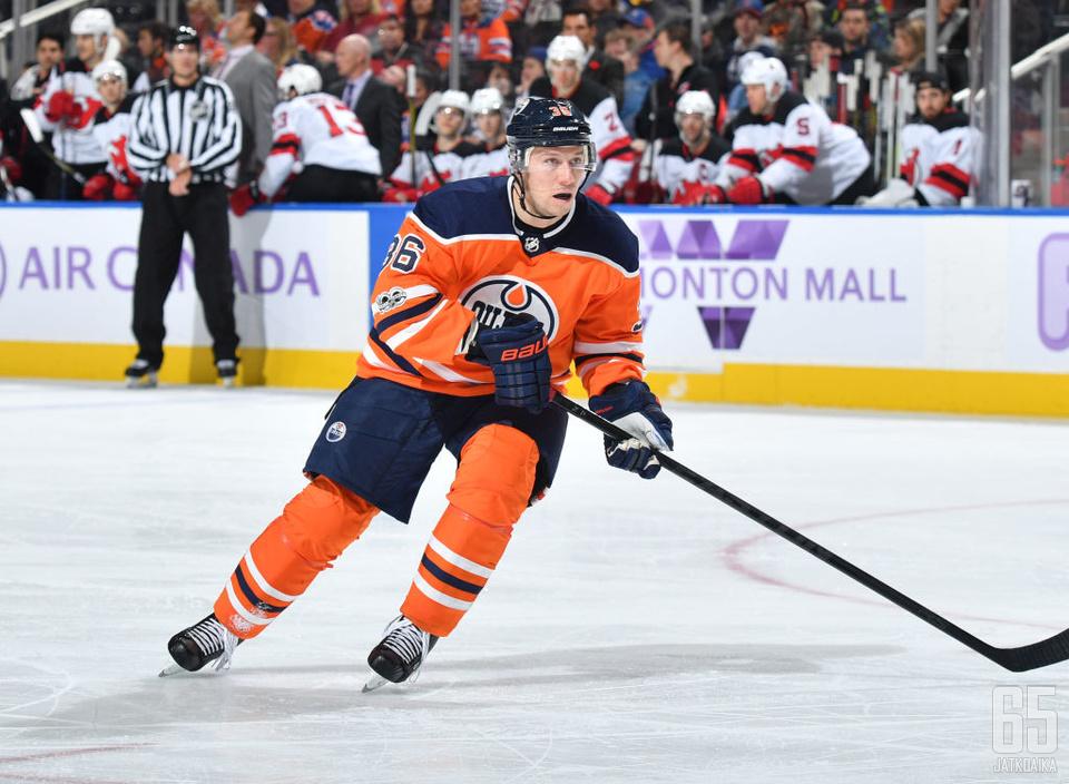 Jokinen pelasi Oilersissa 14 ottelua.