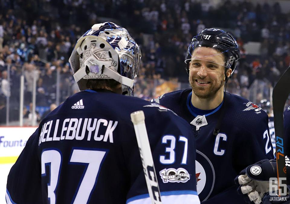 Connor Hellebuyck ja Blake Wheeler ovat solmineet pitkät jatkosopimukset hiljattain.