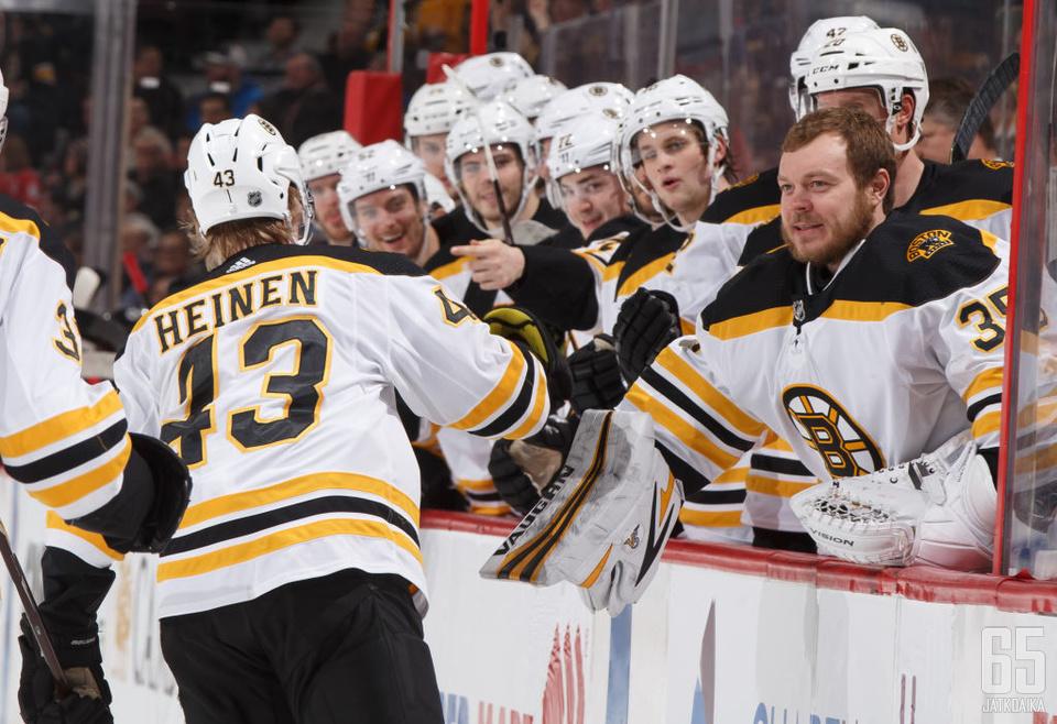 Heinen on pelannut Bruinsissa kaudesta 2016−17 lähtien.
