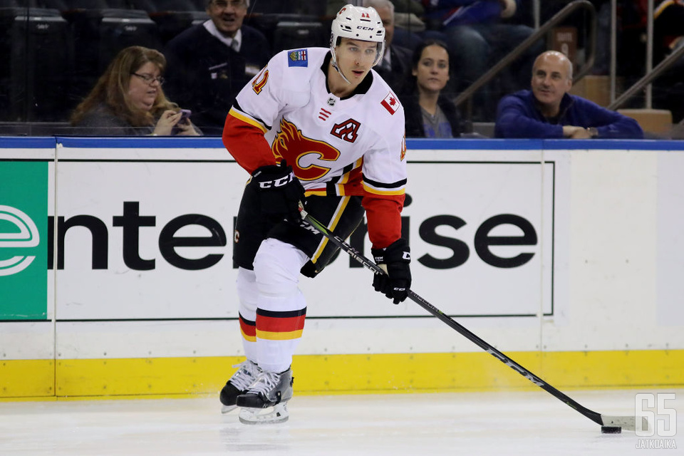 Backlund on noussut Flamesissa luottohyökkääjän asemaan.